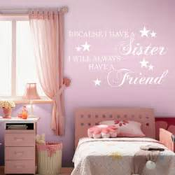 girls bedroom transfers sister wall quotes best friends nursery decal girls