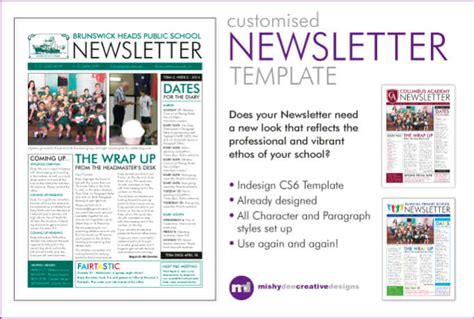 Customise A Newsletter Template In Indesign By Mishydee Make A Newsletter Template