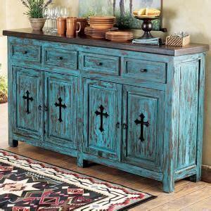 Western Home Decor Pinterest Western Turquoise Santa Fe Cross Buffet From Lone Star