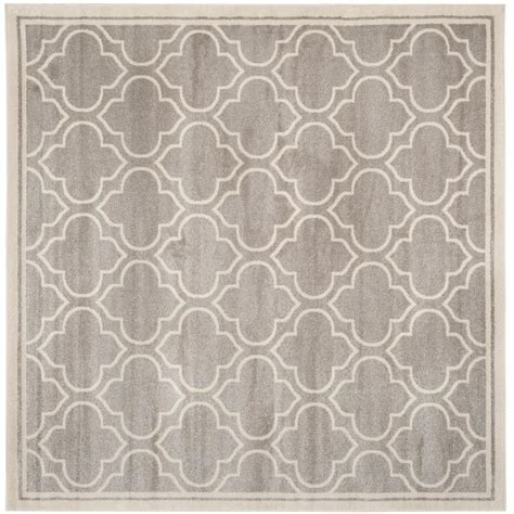 5 foot square rug safavieh amherst light gray ivory 5 ft x 5 ft indoor outdoor square area rug amt412b 5sq the