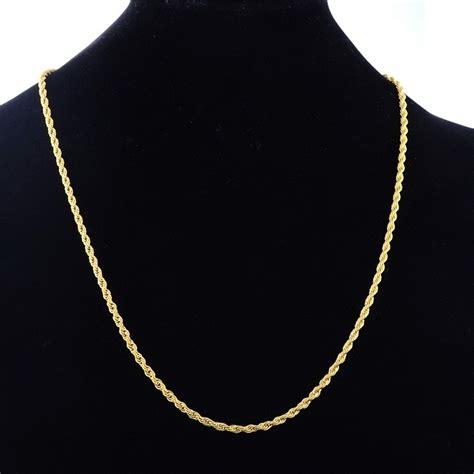 cadena torsal cadena torsal dorada acero inoxidable para hombre 4mm x