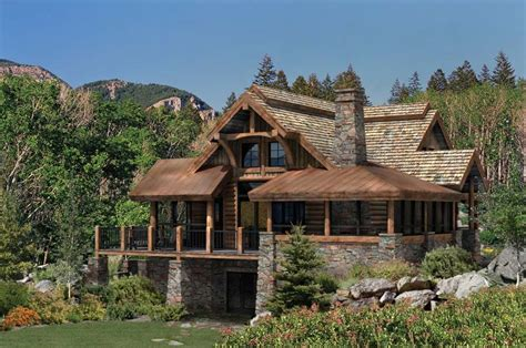 log and stone house plans best outdoor space design the alderbrook logs outdoor