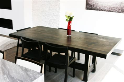 slab dining room table reclaimed poplar live edge slab dining table modern