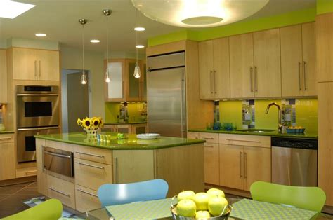 lime green and yellow kitchen casual contemporary kitchen by mario j mulea cr of