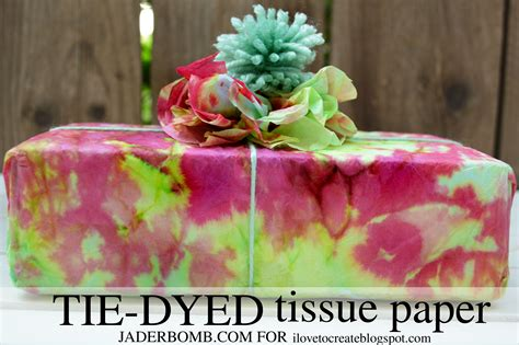 Things You Can Make With Tissue Paper - tie dyed tissue paper tutorial jaderbomb