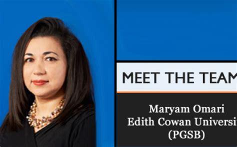 How To Get Your Mba Ecu by Meet The Team Dr Maryam Omari Edith Cowan