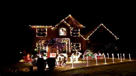 best decorated homes for christmas best christmas house decoration with music youtube