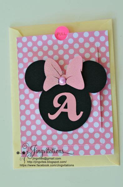 Handmade Minnie Mouse Decorations - minnie mouse invitations handmade 11 cameo silhouette
