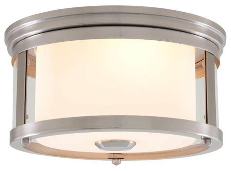 Dvi Dvp5432 12 In Ceiling Flush Mount Lowe S Canada Dvi Lighting Dvp5432sn Op Satin Nickel Half Opal 2 Light Flush Mount Ceiling Fixture