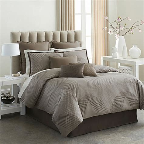 buy modern living mercer 4 piece comforter set in mocha