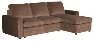 Pull Out Sectional Sofa Gus Brown Microfiber Pull Out Sleeper Sectional Sofa Ebay