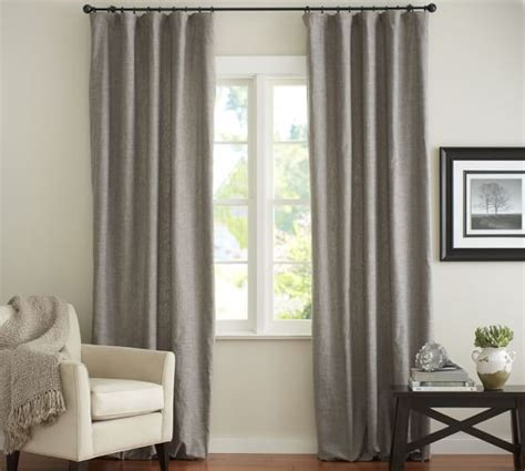pottery barn linen drapes pottery barn emery linen cotton drape available in blue
