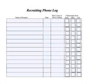 phone log template 8 free word pdf documents download