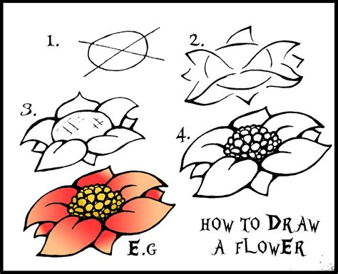 how to draw flower doodle daryl hobson artwork how to draw a flower step by step guide