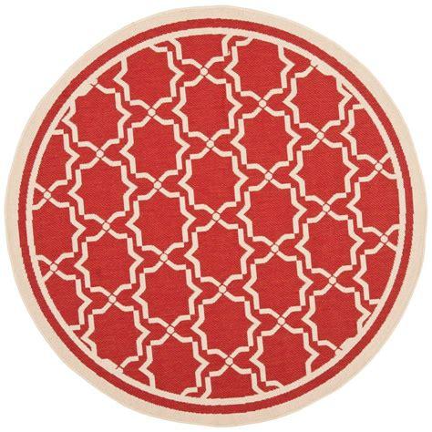 Circular Outdoor Rug Safavieh Courtyard Bone 5 Ft 3 In X 5 Ft 3 In Indoor Outdoor Area Rug Cy6916 248