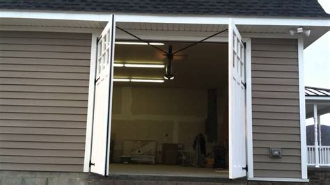 swing carriage garage doors carriage door swing out garage door youtube