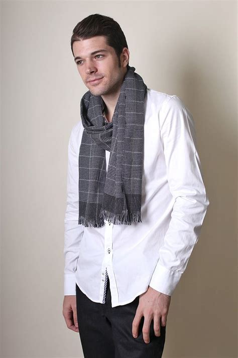 s vincent black and white checkered scarf at