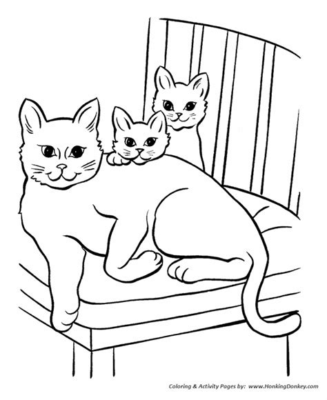 cat family coloring page pet cat coloring pages free printable pet coloring pages