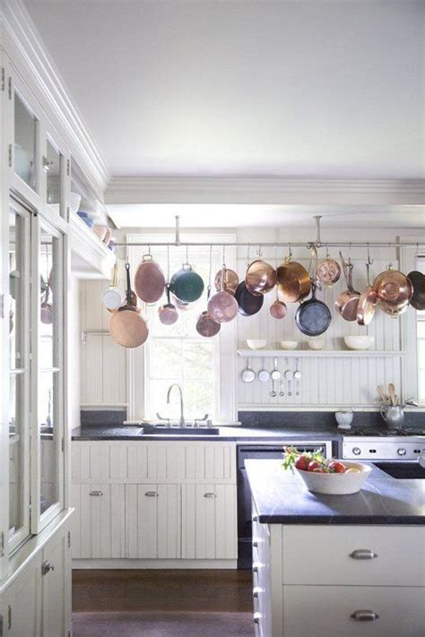 Hanging Pans In Kitchen 25 Best Ideas About Pot Rack Hanging On Pot