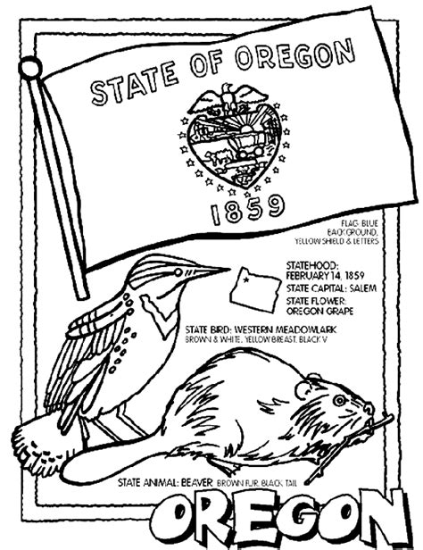state coloring pages crayola oregon coloring page crayola com