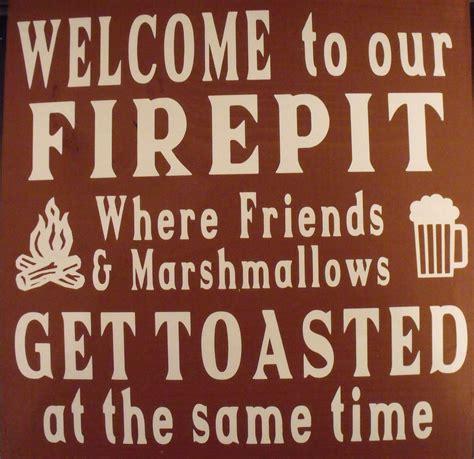 firepit signs firepit sign