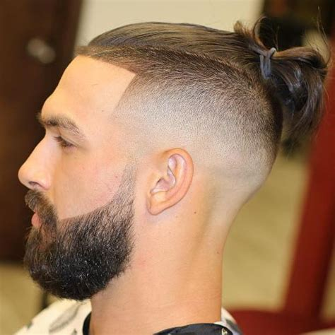 hair cuts men long hair shaved side bun 25 sexy man bun styles you need to know