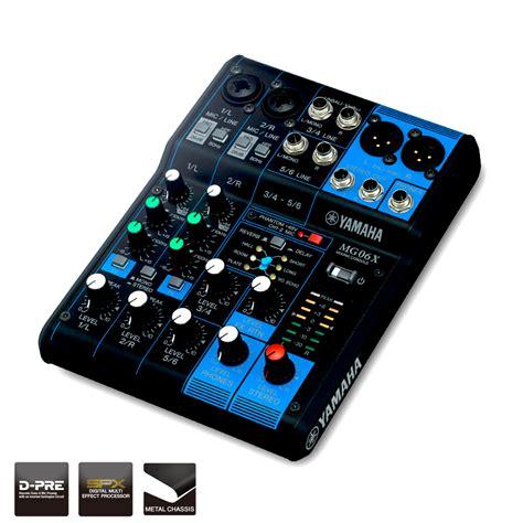 Mixer Audio Yamaha 6 Channel yamaha mg06x compact 6 channel analog mixer w fx pro audio superstore
