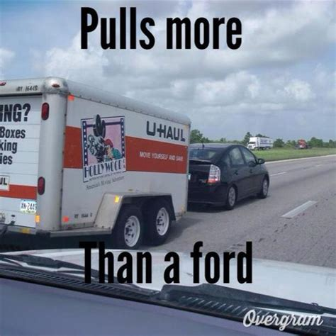 Hybrid Car Meme - toyota hybrid prius out pulls a f150 eco boost and gets