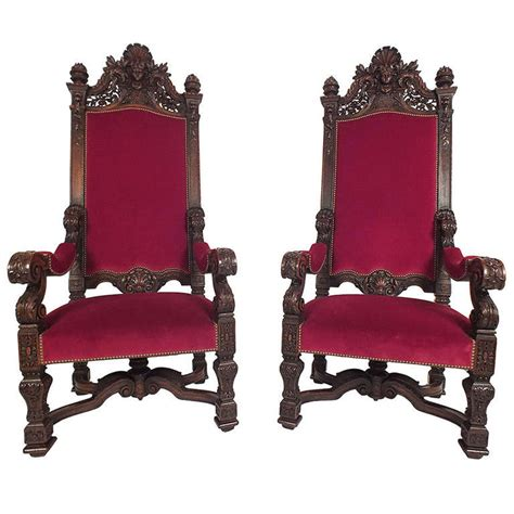 Throne Chairs by 1890 S Louis Xvi Style Pair Of Throne Chairs For Sale At 1stdibs