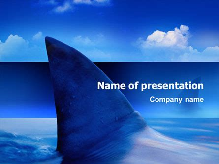powerpoint themes underwater shark powerpoint template backgrounds 02483