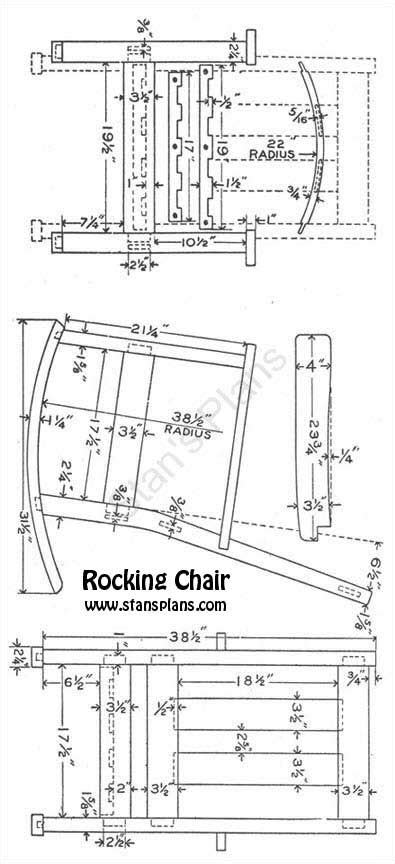 mission style rocking chair plans  woodworking