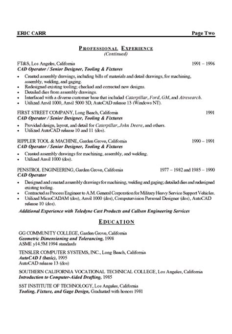 sle resume of experienced mechanical engineer wiring harness design engineer resume sle diagrams free