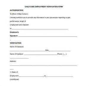 Work Verification Form Template by 11 Sle Employment Verification Forms Sle Forms