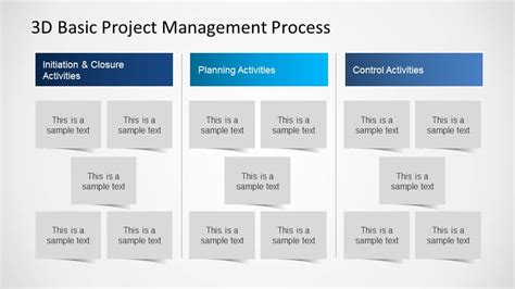 simple project management templates 3d basic project management powerpoint diagram