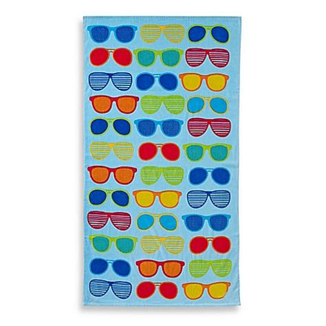 beach towels bed bath and beyond sunglasses print beach towel bed bath beyond