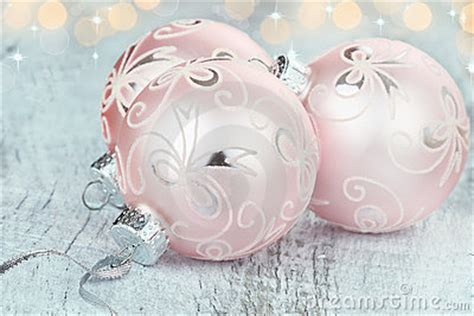 pink christmas ornaments royalty free stock photos image
