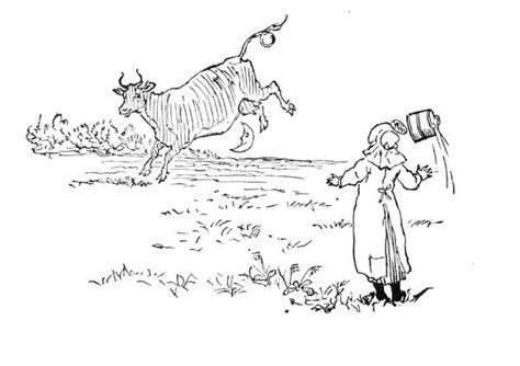 coloring page cow jumping over moon cow jumped over the moon page coloring pages