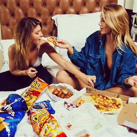 friends niykee heaton hair food pizza snacks yum