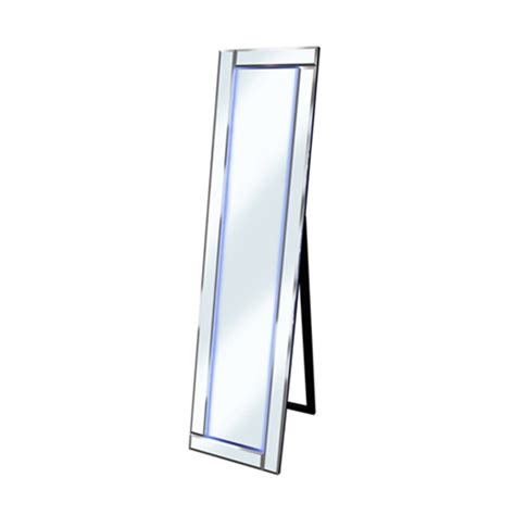 free standing cheval mirror with led lights modern