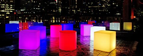 glow furniture hire brisbane glow bars glow cubes illuminated cube