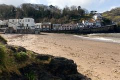 lester point and combe martin royalty free stock cawsand cornwall united kingdom on the rame