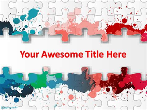 Free Jigsaw Banner Powerpoint Template Download Free Powerpoint Ppt Powerpoint Jigsaw Template