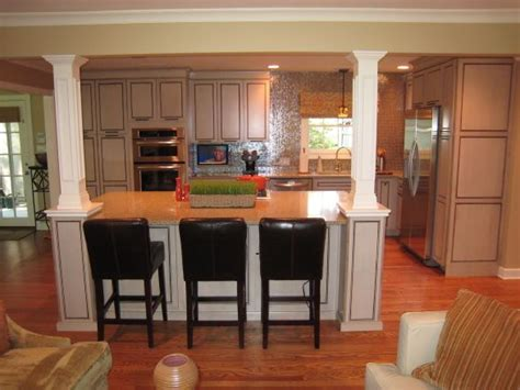 kitchen island with columns home pinterest kitchen remodel when the walls come tumbeling down before