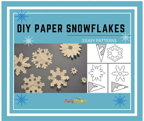 diy paper snowflakes template easy cut  decorations