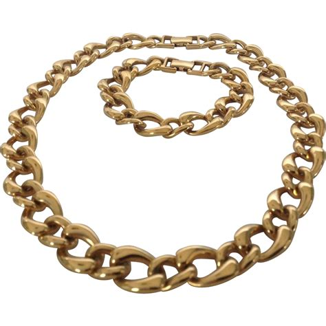 large link chain for jewelry monet gold tone large link chain necklace and bracelet