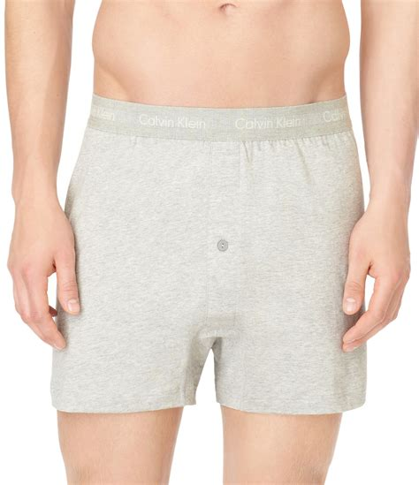 calvin klein knit boxers calvin klein cotton classic 3 pack knit boxers in gray for