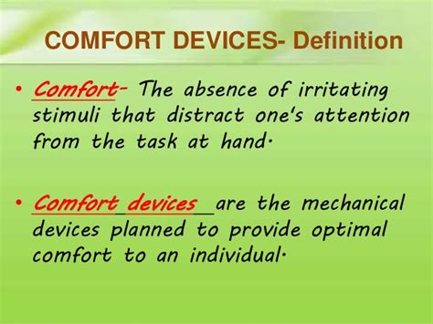define comfortable comfort devices definition images