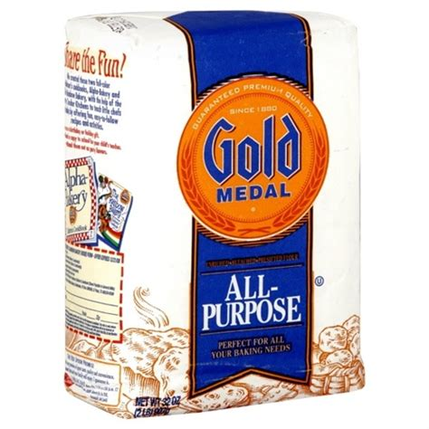 Shelf Of All Purpose Flour by Gold Medal All Purpose Flour 2 Lb