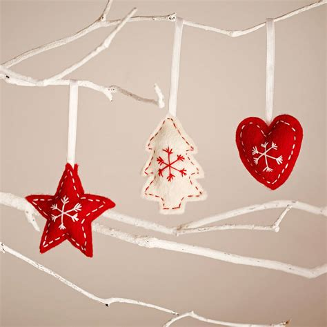 star heart and tree nordic style christmas decorations by