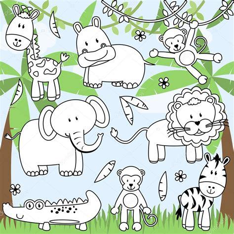 imagenes de animales de zoologico animados colecci 243 n de vectores de dibujos animados animales de